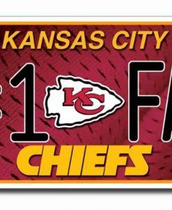 Kansas City Chiefs License Plate - #1 Fan