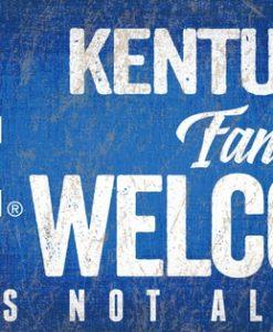 """Kentucky Wildcats Wood Sign - Fans Welcome 12""""x6"""""""