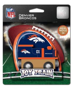 Broncos Wooden Train