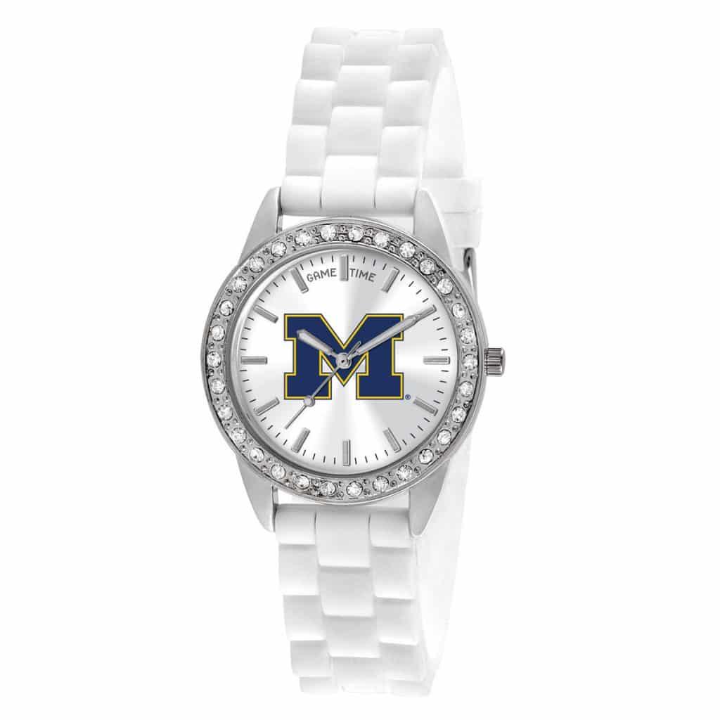 Michigan Wolverines Ladies Quartz Analog Frost Watch