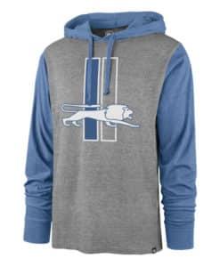 Detroit Lions Men's 47 Brand Vintage Slate Gray Pullover Hoodie