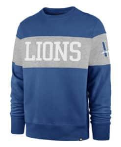 Detroit Lions Men's 47 Brand Vintage Blue Raz Crew Long Sleeve Pullover