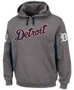 Detroit Tigers Men's Majestic Gray Major Play Hoodie
