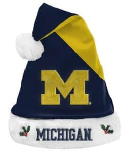 Michigan Wolverines 2020 Christmas Santa Hat