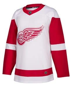 Detroit Red Wings Men's Adidas Authentic White Road Jersey