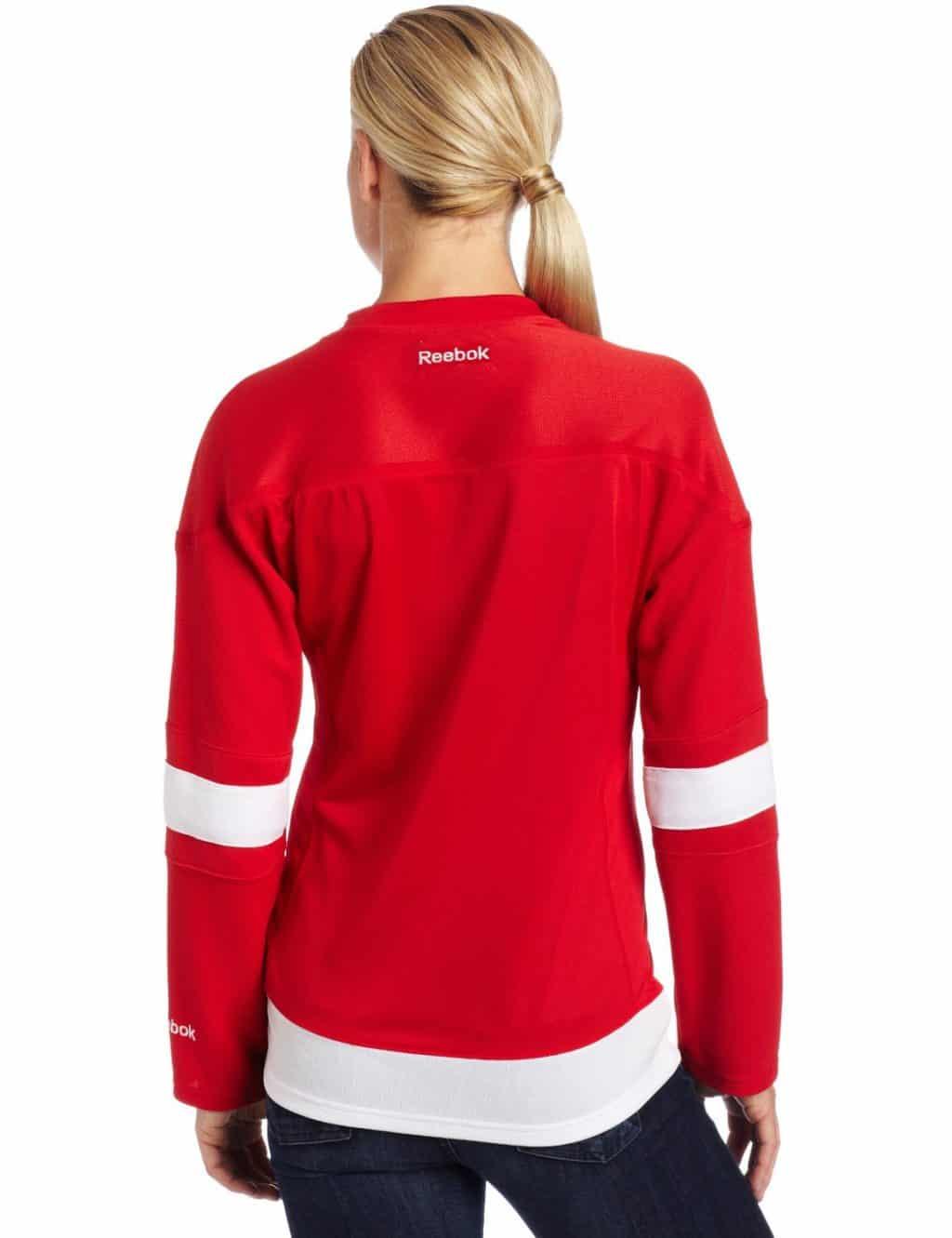 Detroit Red Wings Womens Reebok Premier Home Jersey Back