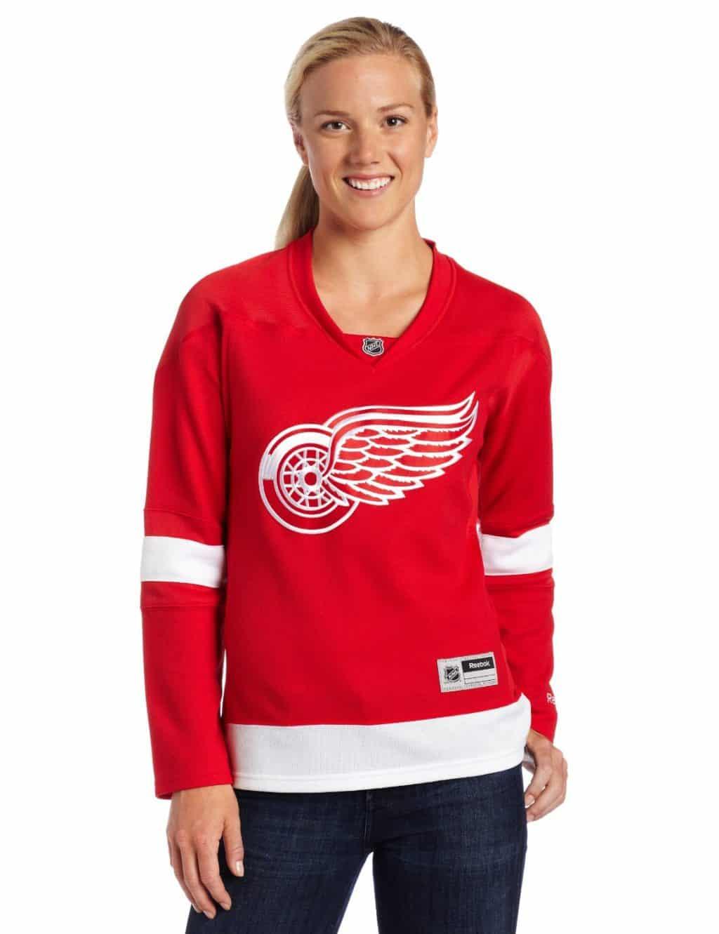 Detroit Red Wings Womens Reebok Home Jersey