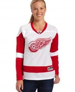 Detroit Red Wings Womens Reebok Road Jersey