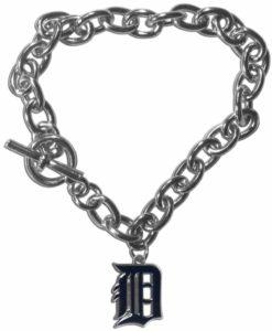 Detroit Tigers Charm Chain Bracelet