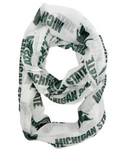 Michigan State Spartans White Infinity Scarf