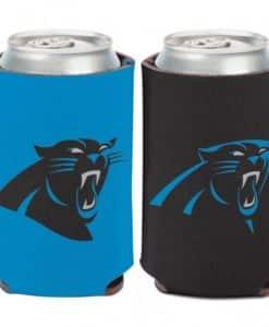 Carolina Panthers Logo 12 oz Black Blue Can Koozie Holder
