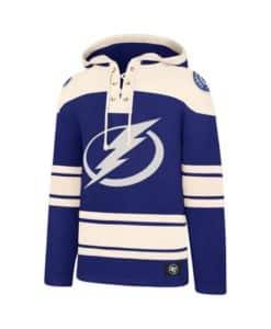 Tampa Bay Lightning Men's 47 Brand Blue Pullover Jersey Hoodie