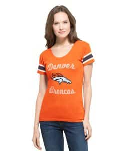Denver Broncos Women's MEDIUM 47 Brand Orange Off Campus Shirt