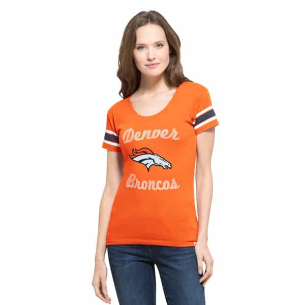 Denver Broncos Women's MEDIUM 47 Brand Orange Off Campus Shirt