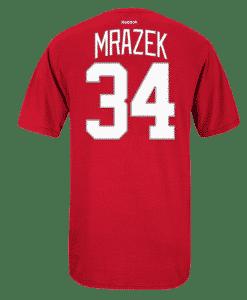 Petr Mrazek Reebok Detroit Red Wings Red Player Tee