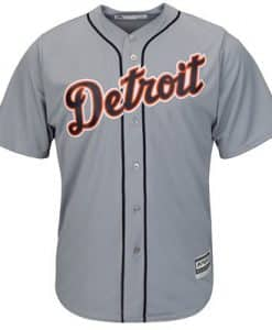 Detroit Tigers Men's Majestic Gray Road Cool Base Replica Jersey