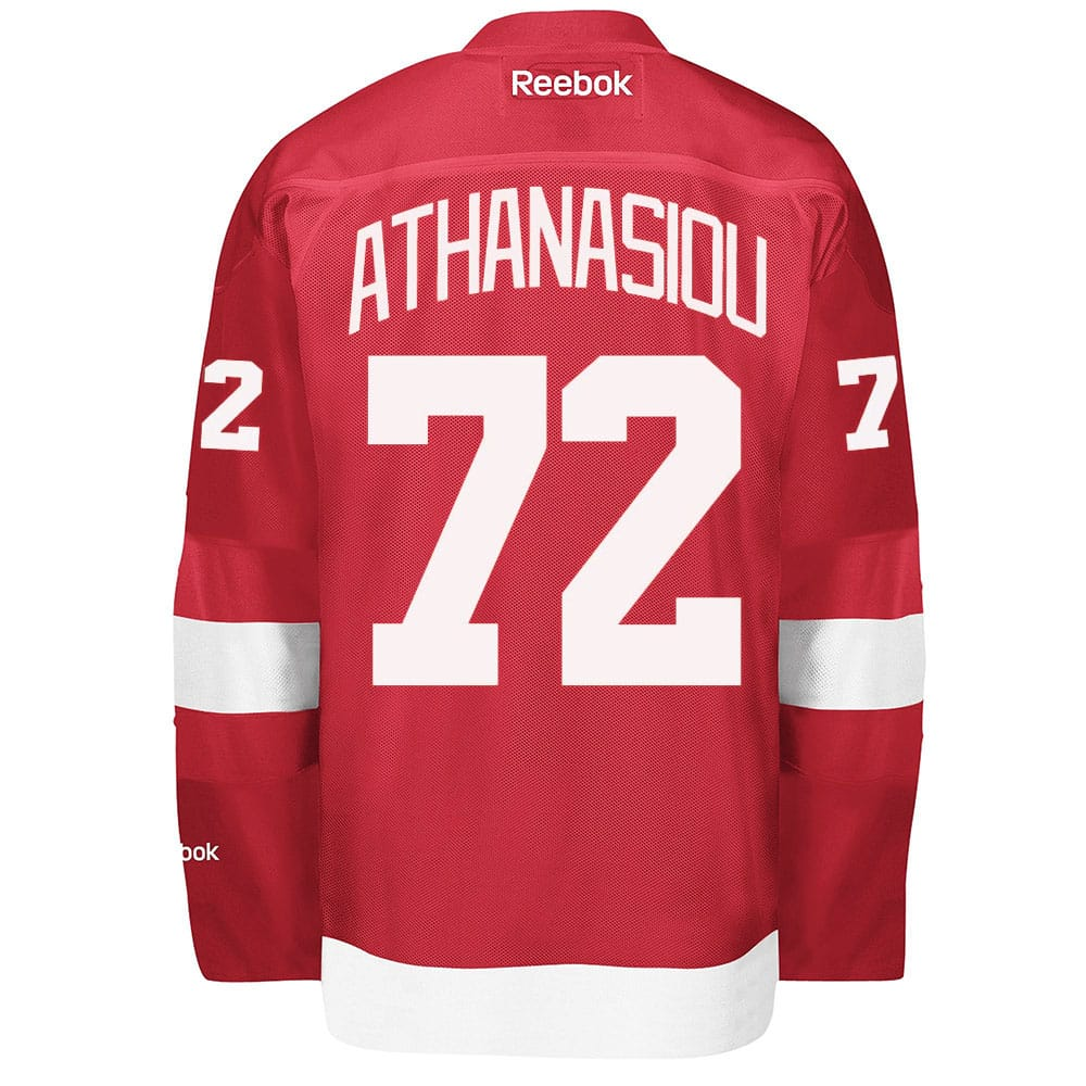 Andreas Athanasiou Men's Detroit Red Wings Reebok Premier Home Jersey