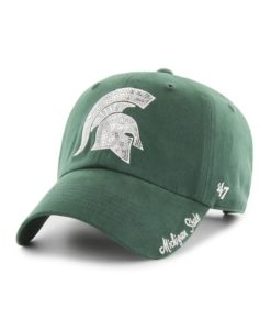 Michigan State Spartans Women's 47 Brand Sparkle Dark Green Clean Up Adjustable Hat