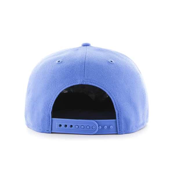 Detroit Tigers Blue Raz Sure Shot Snapback Adjustable Hat Back