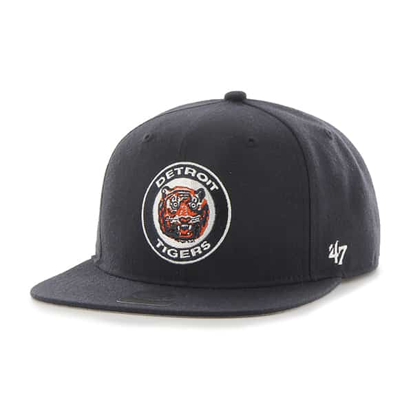 Detroit Tigers 47 Brand Cooperstown Classic Logo Navy Snapback Adjustable Hat