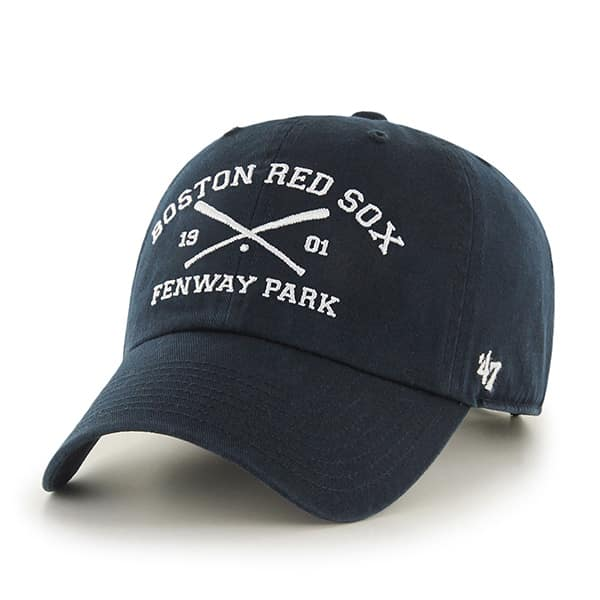 Boston Red Sox 47 Brand Navy Crossing Bats Clean Up Adjustable Hat
