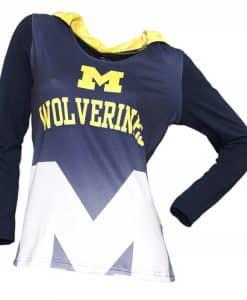 Michigan Wolverines Women's Navy Super Comfy Pullover Hoodie