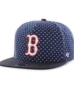Boston Red Sox 47 Brand Navy CB Captain Snapback Hat