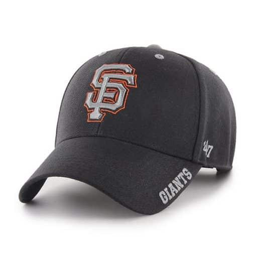 San Francisco Giants 47 Brand Black Defrost MVP Adjustable Hat