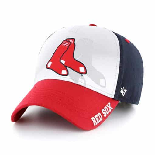 Boston Red Sox KIDS 47 Brand Navy Offset MVP Adjustable Hat