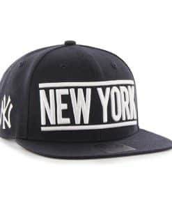 New York Yankees 47 Brand Navy On Track Snapback Adjustable Hat