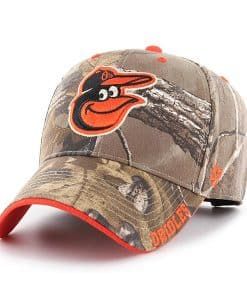 Baltimore Orioles 47 Brand Realtree Camo Frost MVP Adjustable Hat