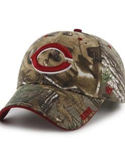 Cincinnati Reds 47 Brand Camo Realtree Frost Adjustable Hat