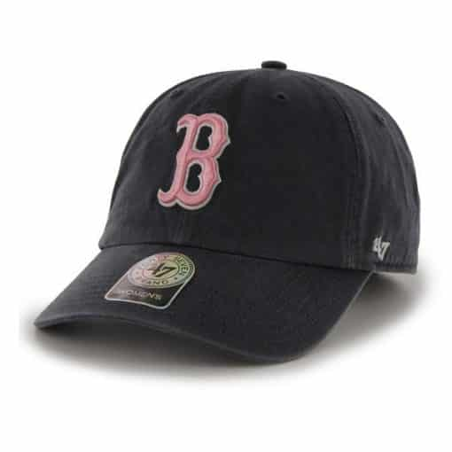 Boston Red Sox Women's 47 Brand Navy Pink Clean Up Adjustable Hat