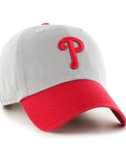 Philadelphia Phillies 47 Brand Gray Red Clean Up Adjustable Hat