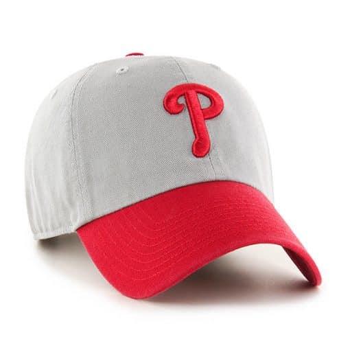 Philadelphia Phillies 47 Brand Gray Red Clean Up Adjustable Hat