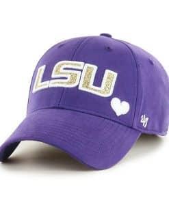 Louisiana State Tigers LSU KIDS 47 Brand Purple MVP Adjustable Hat