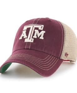 Texas A&M Aggies 47 Brand Dark Maroon Trawler Mesh Clean Up Adjustable Hat