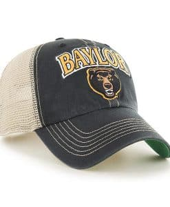 Baylor Bears 47 Brand Tuscaloosa Vintage Black Clean Up Snapback Hat
