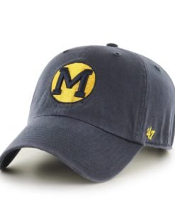 Michigan Wolverines 47 Brand Vintage Navy Vin Clean Up Adjustable Hat