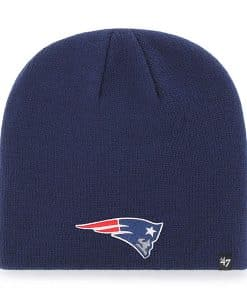 New England Patriots 47 Brand Light Navy Knit Beanie Hat