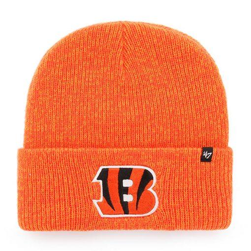Cincinnati Bengals 47 Brand Orange Brain Freeze Cuff Knit Hat
