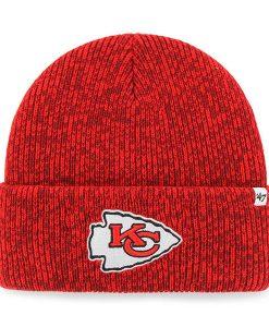 Kansas City Chiefs 47 Brand Red Brain Freeze Cuff Knit Hat