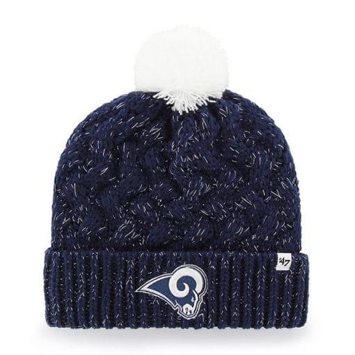 Los Angeles Rams Women's 47 Brand Navy Fiona Cuff Knit Hat