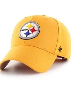 Pittsburgh Steelers 47 Brand Yellow Gold MVP Adjustable Hat
