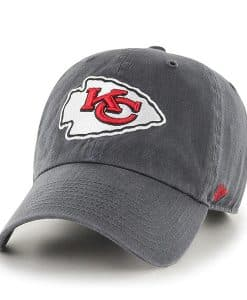 Kansas City Chiefs 47 Brand Charcoal Clean Up Adjustable Hat