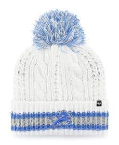 Detroit Lions Women's 47 Brand White Sorority Cuff Knit Hat