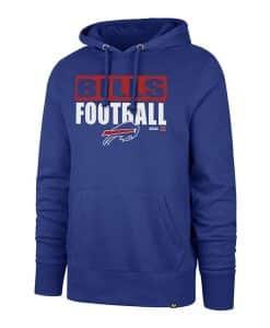 Buffalo Bills Men's 47 Brand Royal Blue Pullover Hoodie