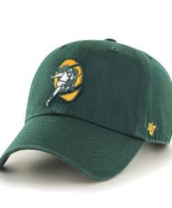Green Bay Packers 47 Brand Classic Dark Green Clean Up Adjustable Hat