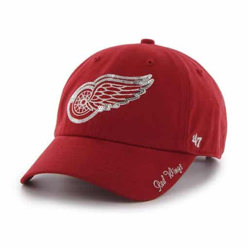 Detroit Red Wings Women's 47 Brand Sparkle Red Clean Up Adjustable Hat