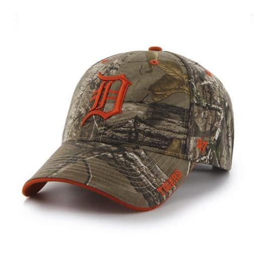 Detroit Tigers 47 Brand Realtree Camo MVP Adjustable Hat